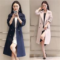 Fashion Women Windbreak 2018 fashionable autumn spring casual   trench   coat women long female wind breaker outerwear plus size