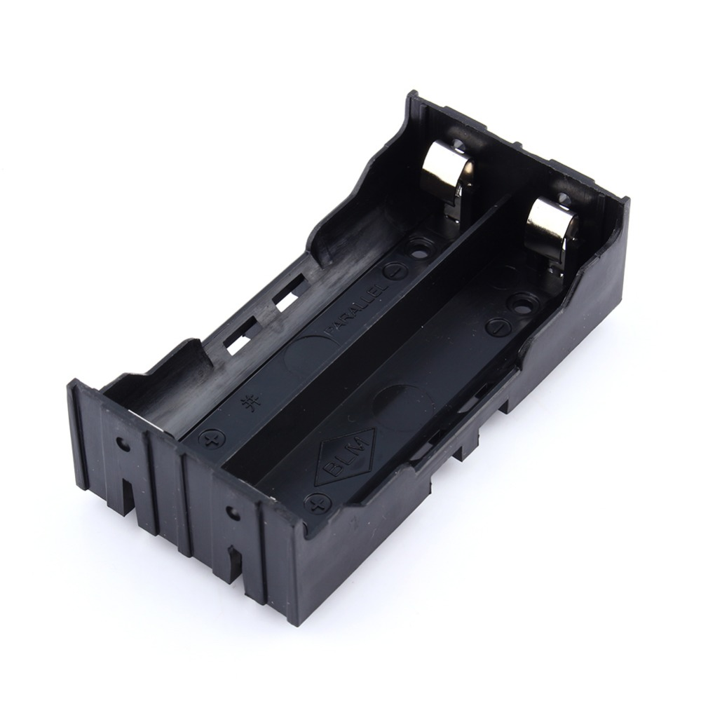 Plastic DIY Lithium Battery Box Battery Holder with Pin Suitable for 2 x 18650 (3.7V-7.4V) Lithium Battery Wholesale