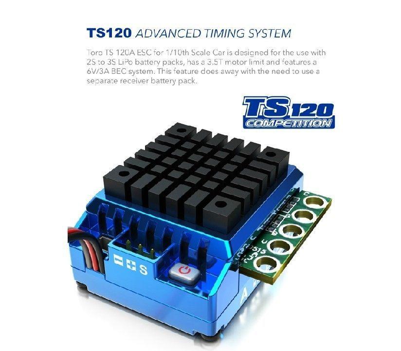 Système de synchronisation avancé ESC SkyRC TORO TS 120A pour voiture 1/10th