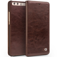 QIALINO For Huawei Ascend P10 Case Luxury Genuine Real Leather Flip Case For Huawei P10 Plus