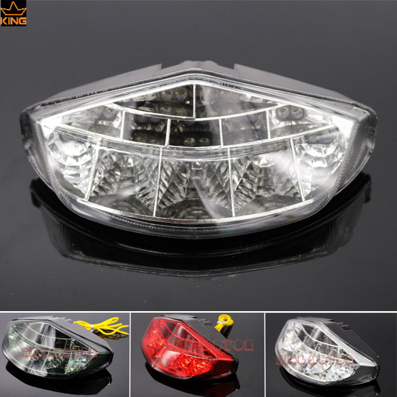 Hot Sale  Motorcycle Accessories Integrated LED Tail Light Turn signal Blinker Clear For DUCATI Monster 696 796 1100/S/EVO  new led tail light taillight turn signal lamp for ducati streetfighter s 848 1102012 2013 2014 smoke motorcycle parts