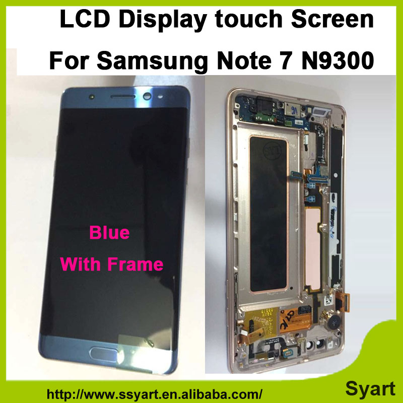 High quality N9300 Full LCD 5.7 lcd Display Touch Screen Digitizer + Home button + Frame Assembly For Samsung Galaxy Note 7 high quality n9300 full lcd 5 7 lcd