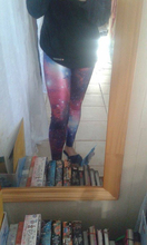 The Starry Sky Galaxy 3D Printed Leggings