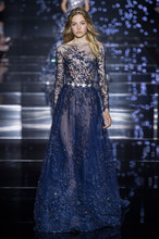 2016 Zuhair Murad Design Abendkleid Luxus Tulle Lange Kleider Cocktail Party Veatidos De Festa MY1012-09