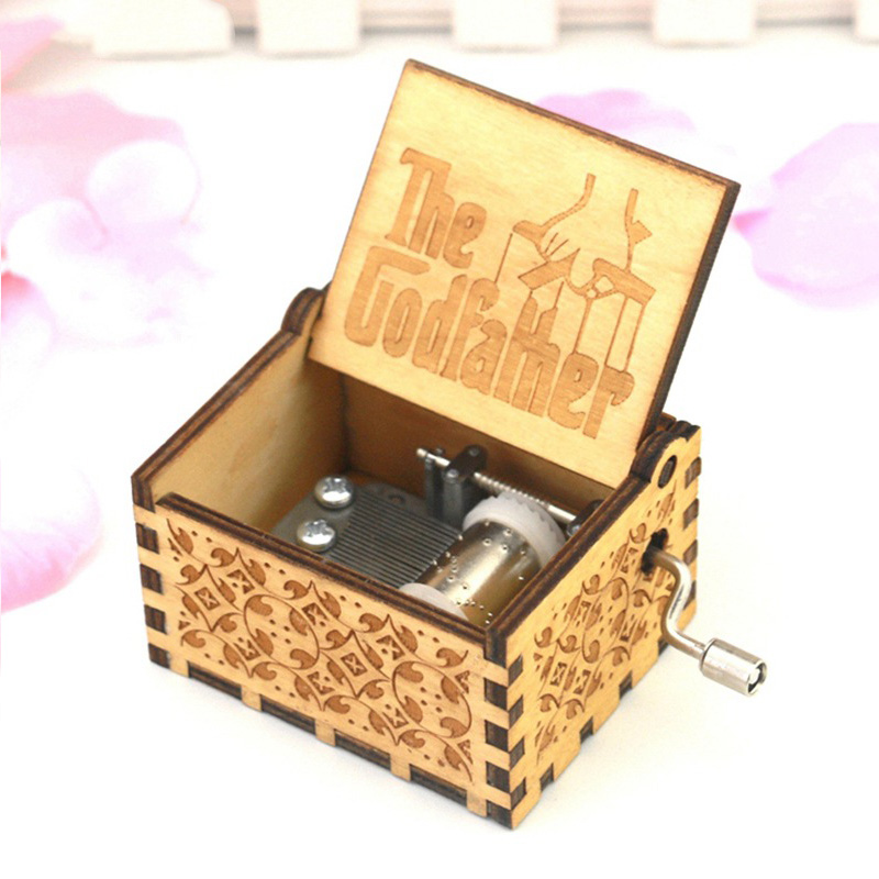 Star Wars Antique Carved wooden Hand Crank Frozens Pink Panther To Alice game of Thrones  Christmas gift Hogwarts Music Box