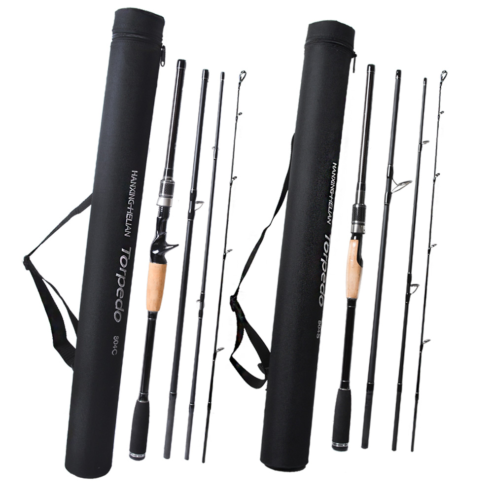 Travel Fishing Rod Carbon Spinning Casting Lure Rod 2.1 2.4 2.7m 3m M Power 4 Sections Rods vara de pesca Carp Fishing pole