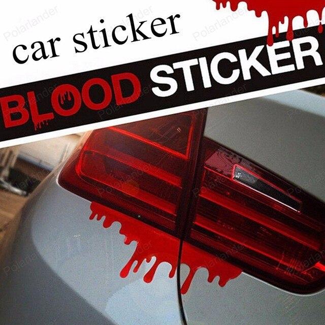 Newest reflective car decals rear front headlight sticker new design 2016 hot blood bleeding car stickers