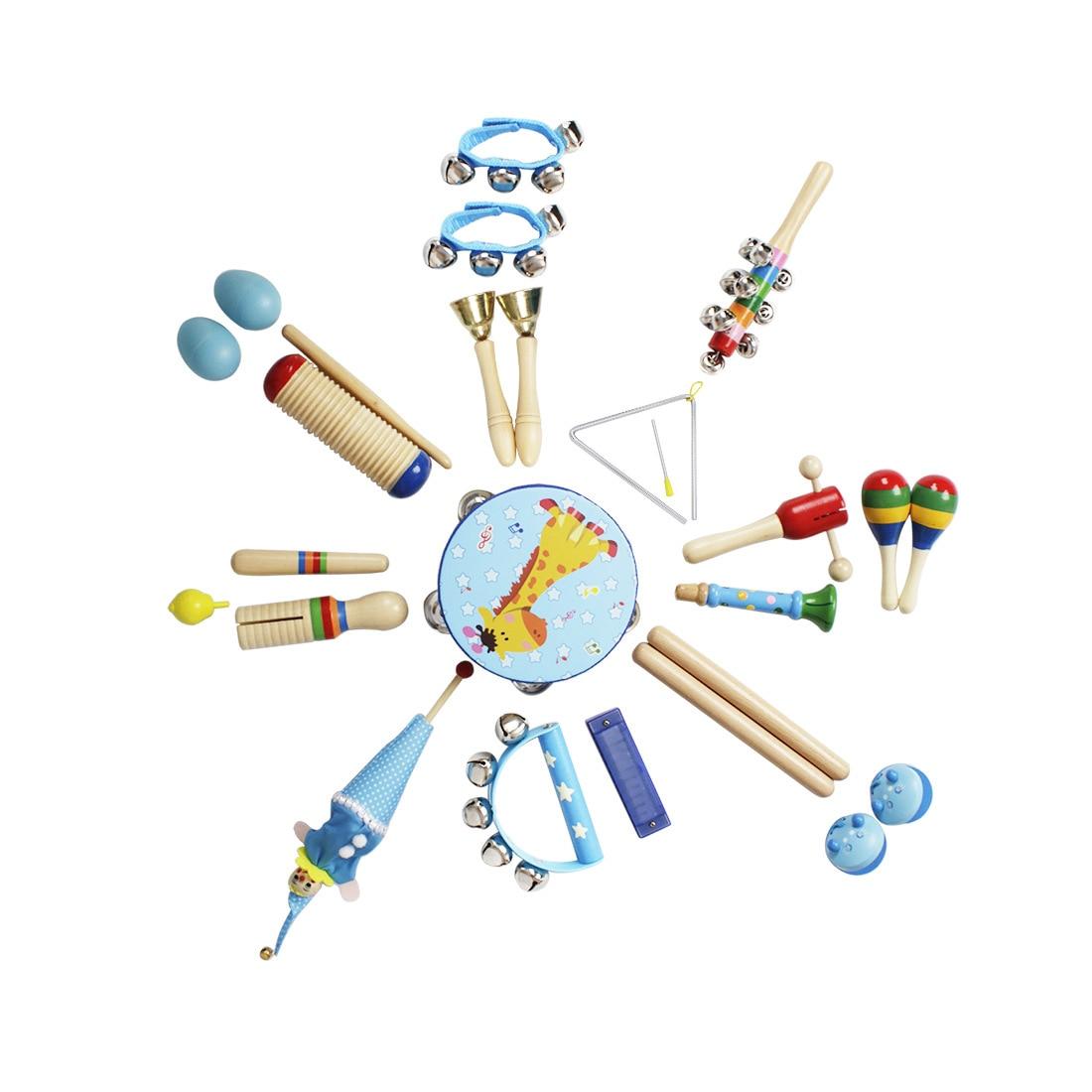 23 pièces éducation Instruments de musique jouets ensemble pour enfants jouant l'apprentissage de la musique intérêt Develpoment Kits