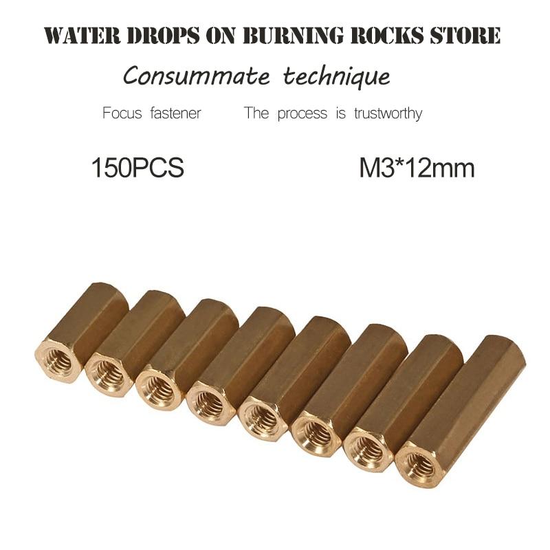 M3*12mm double-pass copper column,flat head copper column,hollow copper column,hexagonal copper stud,main plate isolation column