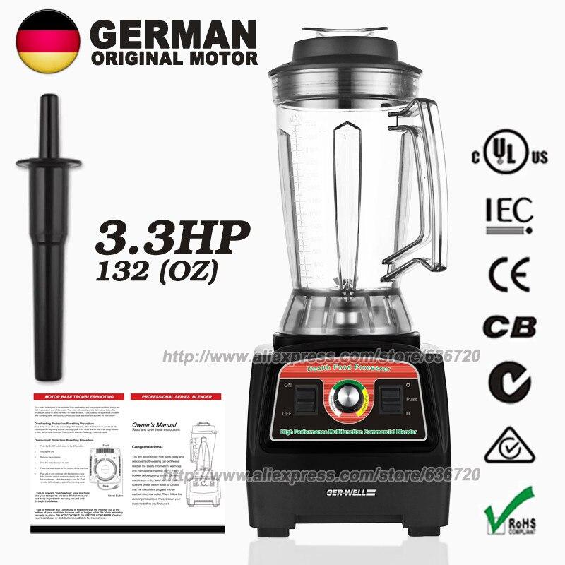 BPA-Free G7400 3.3HP 2800-Watt Professional Ice Shave Machine High-Speed Slow Juicer System Black 3.9L 57000-peak