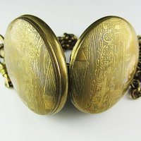 Heroes Pattern+100% Brass Cover Mechanical Pocket Watch freeship