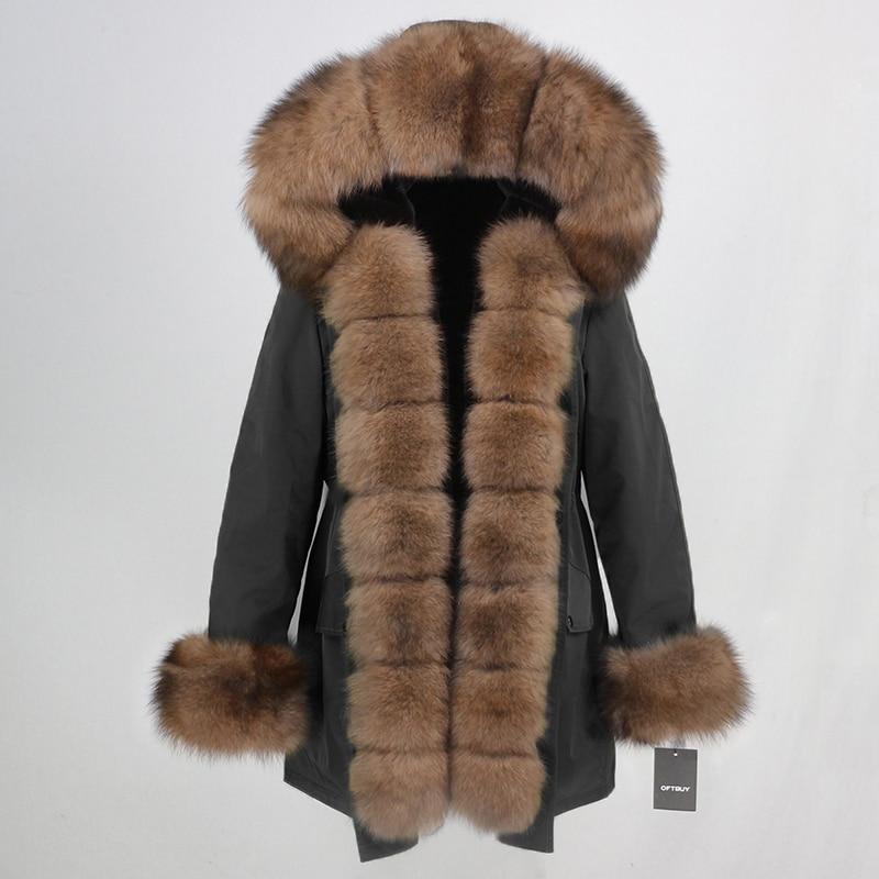 OFTBUY Waterproof Long Parka Winter Jacket Women Real Fur Coat Natural Fox Fur Collar Hood Thick Warm Streetwear Detachable New 49