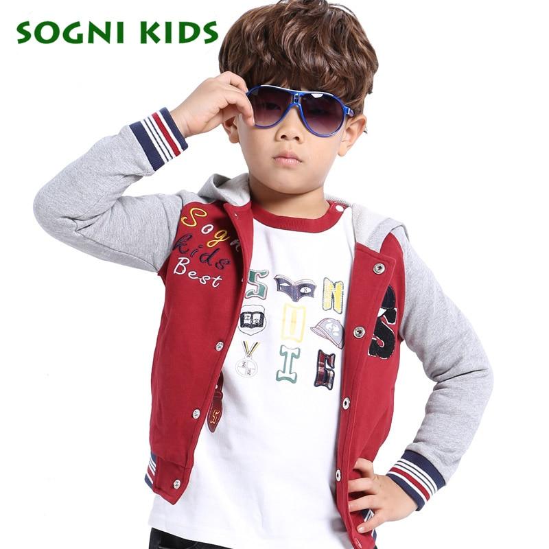 2016 New Autumn Children Hoodies Sweatshirt for Boys Girls hooded Coat baseball uniform Kids Long Sleeve
