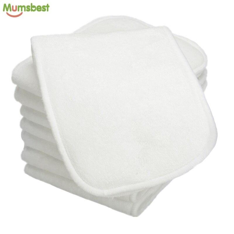 mumsbest Schlussverkauf 4 Schichten Bambus & Mikrofaser Einsätze Für Baby Tuch Windel Mehrweg Waschbar Fügt Liners Für Tasche Tuch Windel Letzter Stil