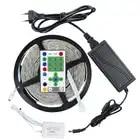 5 м 270 светодиодный s SMD 5050 IP65 Водонепроницаемый Скачки RGB Светодиодные ленты свет + 25 Ключи ИК пульт дистанционного управления + 12 V 6A Мощность ...
