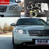 HochiTech WHITE 6000K CCFL Headlight Halo Angel Demon Eyes Kit Angel Eyes Light For INFINITI FX35
