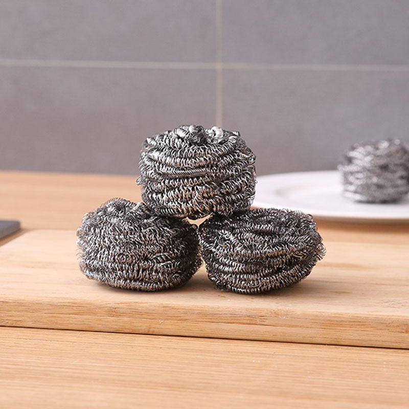 Home Stainless Steel Wire Kitchen Dish Cleaning Ball Scrubbers Cleaning Wire Sponge 6cm in Sponges Scouring Pads from Home Garden