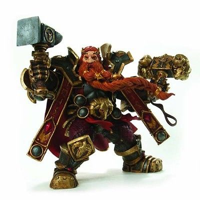 WOW: Series 6: Dwarven King: Magni Bronzebeard Action Figure Model