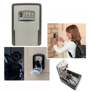 Image 5 - מפתח אחסון מנעול תיבת קיר רכוב מפתח מנעול תיבת עבור בית מפתחות רכב מפתחות לבית משרד עם 4 שילוב ספרות