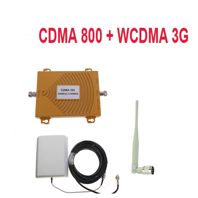 Dual Band Repeater CDMA 800Mhz Booster+3G WCDMA Repeater Dual Band 3G Booster Kits W/ Cable &antennas,dual Band GSM Booster