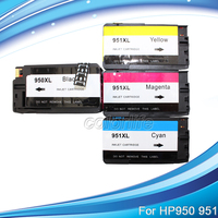 4 Pack 950XL 951XL Ink Cartridge For HP OfficeJet Pro 8100 8600 With Chips