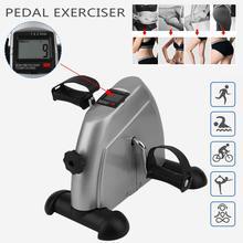 FR домашний тренажер для езды на велосипеде фитнес мини педальный велосипед для занятий ЖК-дисплеем велосипедная футболка велотренажёр для подростков похудение