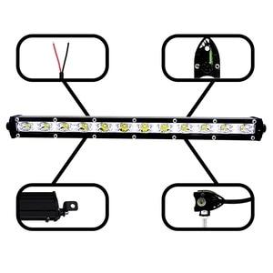 Image 5 - 13 นิ้ว 36W Led Light BarดัดแปลงไฟOff Road Light Light Bar Comboน้ำท่วมทำงานหมอกไฟหน้าสปอตไลท์ 6000K