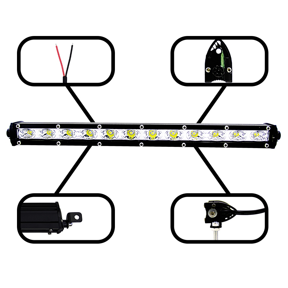 Image 5 - 13 Inch 36W Led Light Bar Combo Flood Spot Beam Work Fog Headlights Spotlights 6000K Modified Off road Lights Roof Light Bar-in Light Bar/Work Light from Automobiles & Motorcycles