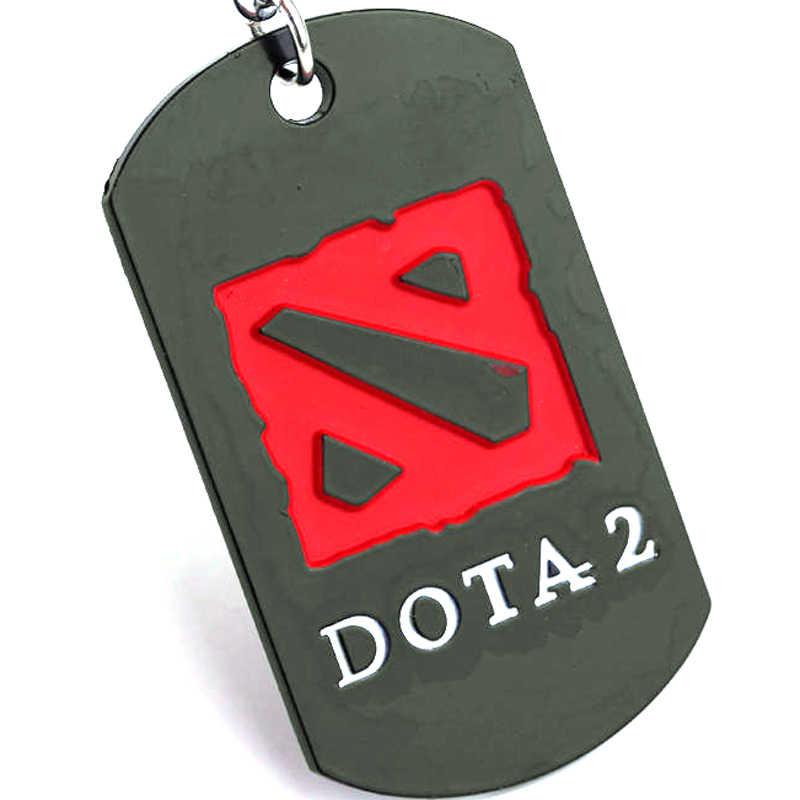 Dongsheng Hot Jogo DOTA 2 Anéis de Metal Chave Chaveiro pode Gota-transporte Para O Presente Chaveiro chaveiro Jóias para carros YS10920
