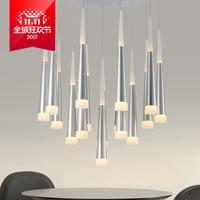 1PC Modern LED Long Tube Pendant Lights Simple Nordic Restaurant Dinning Room Bar Cylindrical Pendant Lamps