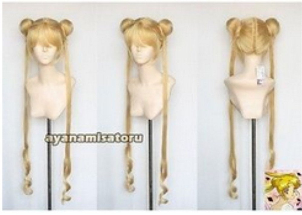 BFI929 blonde mix split -type long cosplay full wig + pigtail***grace Mother party women bride - sulan gu's store