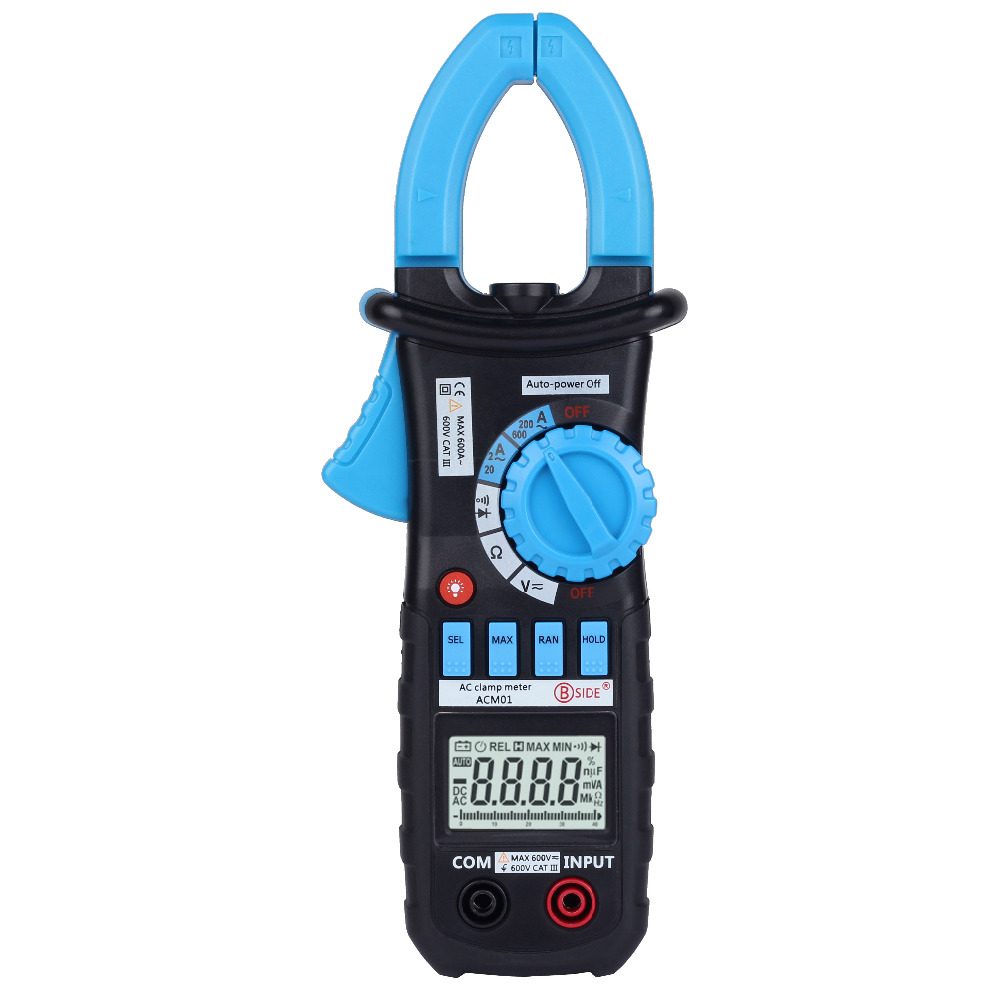 Acm01 Digital Ac Clamp Meter Tester Resistance Continuity Work Goospery Iphone 6 6s Hybrid Dream Bumper Case Coral Blue Backlight Buz