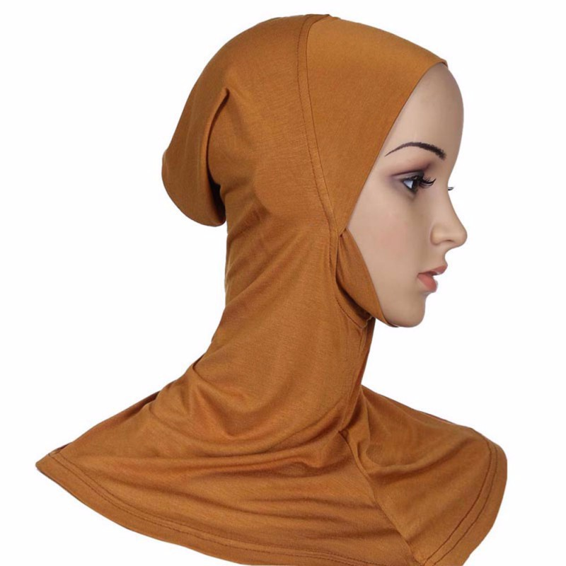 Hijab Headwear Full Cover Underscarf Ninja Inner Neck Chest Plain Hat Cap Scarf Bonnet 2017 6