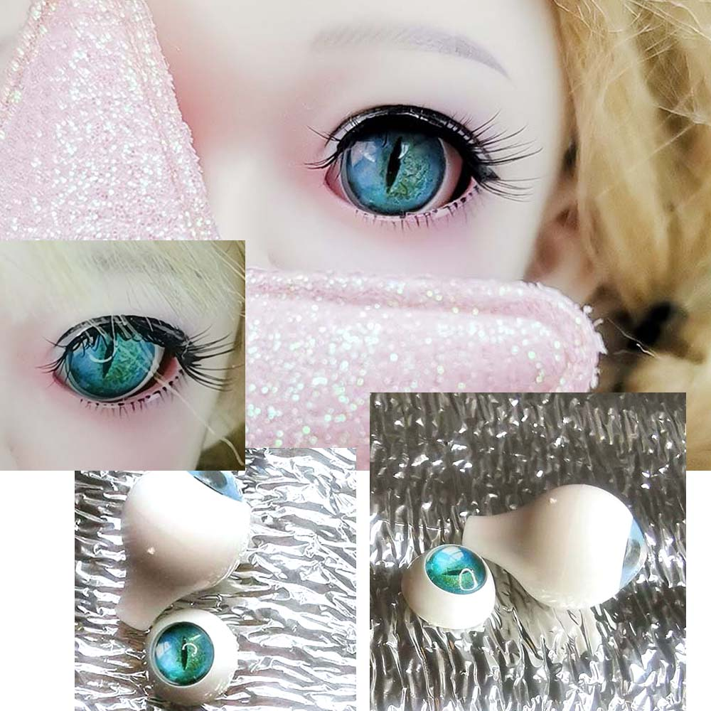 BJd Eyes  Blue Flower  Color  DIY Plalstic BJD Eyes Eyes 12mm 14mm 16mm 18mm 20mm 22mm Pressure Sd Msd BJD Eyes 1/3 1/4 1/6 Doll