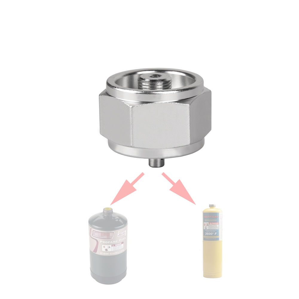 1LB Propane Refill Adapter Small Gas Tank Input Valve Output outdoor Camping Stove Convert Cylinder LPG Canister Gas Adapter