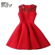 Black Vintage Audrey Hepburn Women Summer Sequin Dress Red Sleeveless Party Dresses Ukraine Vestido De Festa Evening Elegant