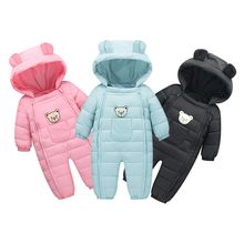 Newborn Winter Warm Baby Girl Boy Clothes Fashion Solid Baby Rompers Baby Onesie Baby Winter Clothes Casual Kids Jumpsuit 2019(China)