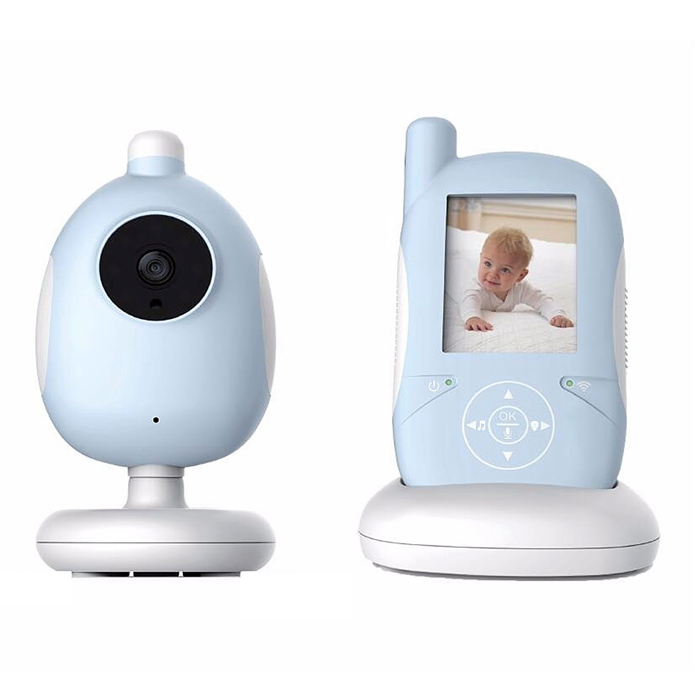 Wireless Video Color Baby Monitor High Resolution Baby Nanny Security Camera Night Vision Temperature Monitoring wireless 2 4 lcd color baby monitor high resolution lullabies kid nanny radio babysitter night vision remote camera newborn gift