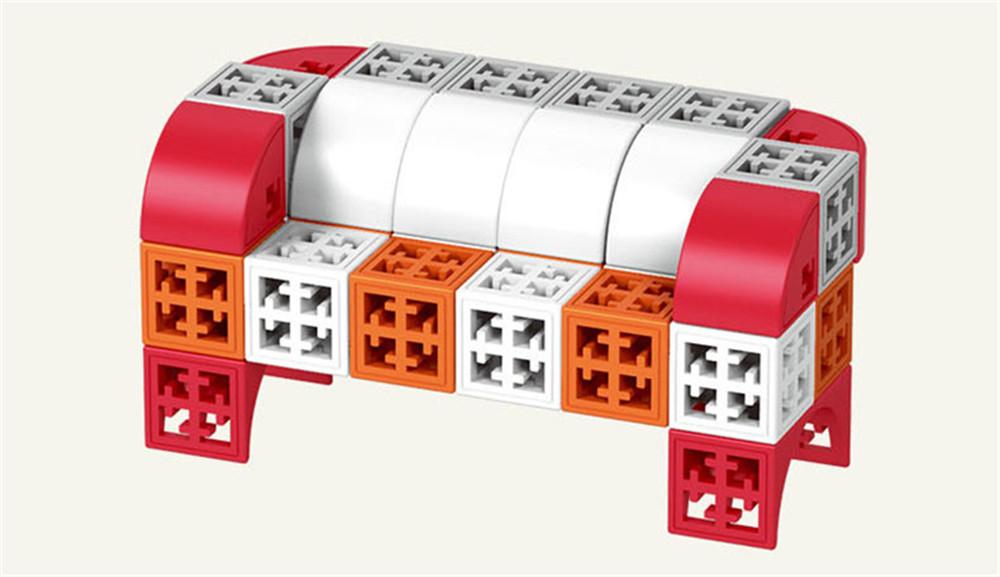 34/48/88/138/188pcs Blocks Cubes Unit Plastic Interlocking Construction Model Building Set of Early Educational Toys For Child 4