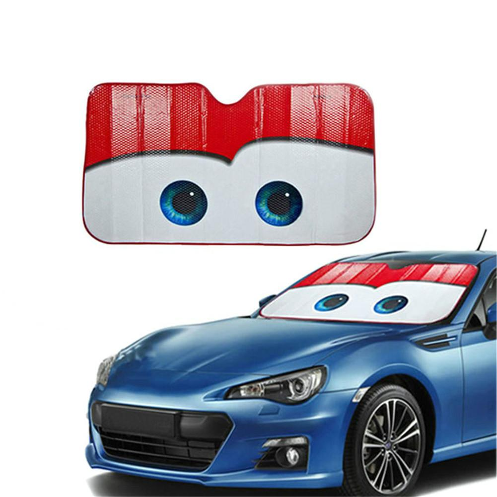 Image 2 - 5 Colors Eyes Heated Windshield Sunshade Car Window Windscreen Cover Sun Shade Auto Sun Visor Car covers Car Solar Protection-in Windshield Sunshades from Automobiles & Motorcycles