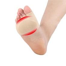 1Pair Gel Sleeve painful metatarsal heads Morton Forefoot pads flat splay foot pressure relief calluses feet care Tool