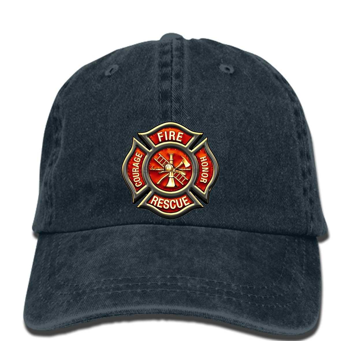 3a56b38a hip hop Baseball caps Classic Firefighter Fire Emblem Black Men's cap  Fashion