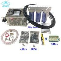 A153 высокого давления 3L/мин машина тумана насос 50 шт. насадки для аэрозольного орошения 50 м 9,52 мм шланг для патио система охлаждения