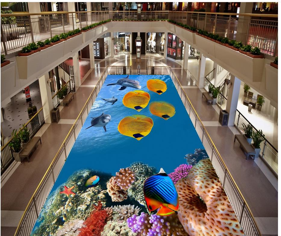 Painting 3D Wallpaper Underwater World Tropical Biological ...