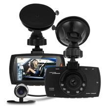 Автомобильный ВИДЕОРЕГИСТРАТОР с Двойной Камерой Full HD 1080 P 2.7 «даш Cam Автомобильный Видеорегистратор Видеокамера Двойная Камера Аварии 1.2 М CMOS сенсор Камера DVR