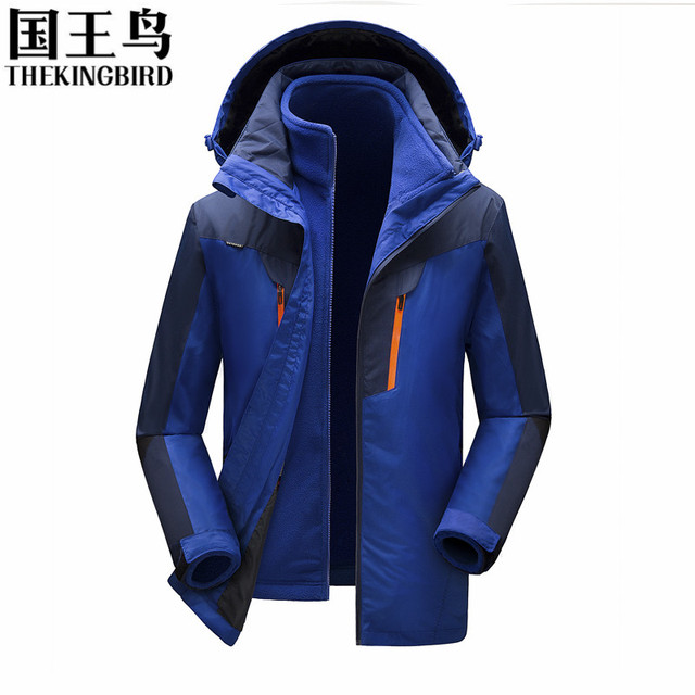 Winter Outdoor Jacket 3 in 1 jacket men Windproof waterproof ...