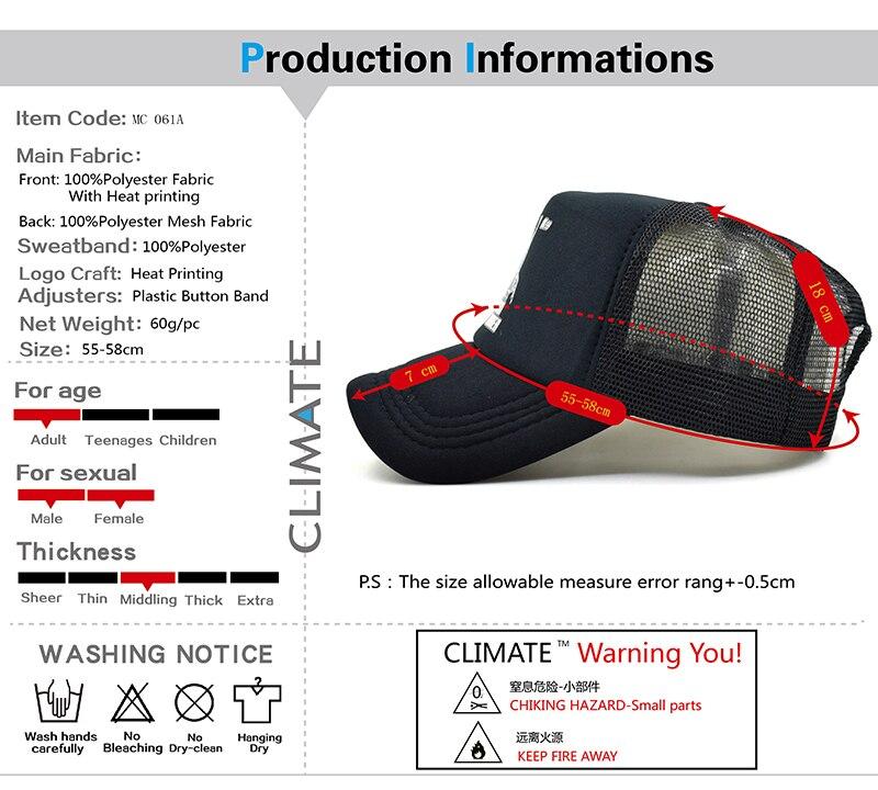 black trucker hat MC 061A-01