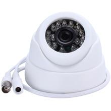 """كاميرا تلفزيونات الدوائر المغلقة HAMROL 1/3 """"لون CMOS Real 700TVL عالية الدقة 24 LED نايتفيسون داخلي كاميرا بشكل قبة كاميرا الأمن التناظرية"""