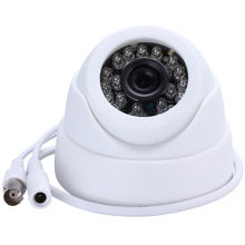 "HAMROL CCTV Camera 1/3"" Color CMOS  Real 700TVL High Resolution  24 LED Nightvison Indoor Dome Camera  Analog Security Camera"