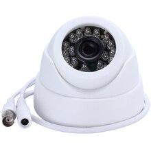 HAMROL caméra de surveillance dôme intérieure, couleur 1/3 pouces, sécurité analogique, CMOS 700TVL, haute résolution 24 LED, vision nocturne